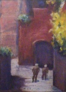 Oldest Friends, Pastel by Kay L Roscoe (February 2012)