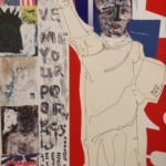 Liberty, Collage, Paint, Photocopy by Paula Rose, Size 36in x 24in (June 2016)