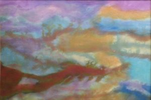 Landscape, Silk Painting by Mary Lazar (February 2012)