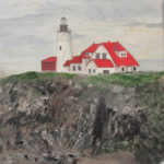 Portland Head Lighthouse, Oil by Sarah Flinn, Size 12in x 16in (June 2017)