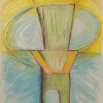 Spinning Turbine I, Acrylic, Color Pencil by David Lovegrove, Size 15in x 11in (June 2016)