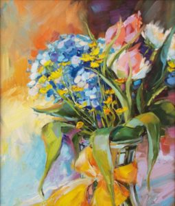 Spring Time, Oil by Beverly Toves- Size 20in x 17in (July 2016)
