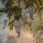 Spring Wisteria, Sumi Watercolor by Carol Waite, Size 31i x 38in (June 2017)