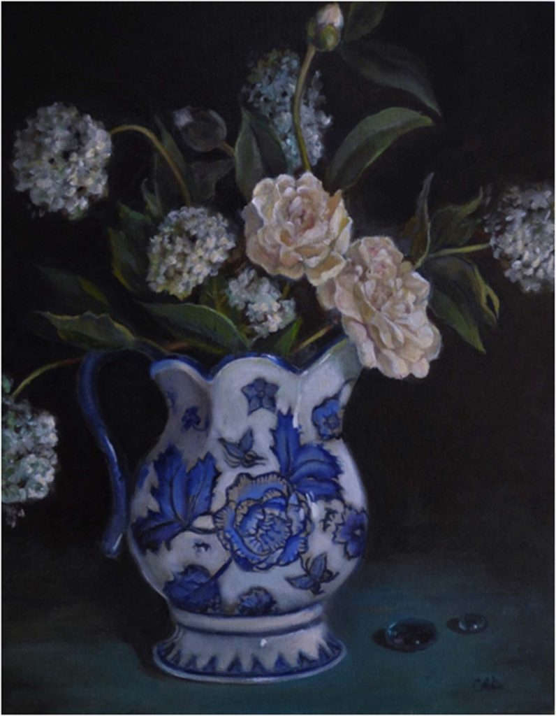 THIRD PLACE: Still Life with Scottish Pitcher, Oil by Christine Dixon- Size 18in x 14in (August 2016)