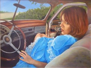 Alice Travels Backwards, Oil by Toy Fowler (February 2012)