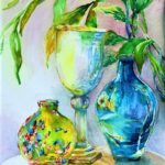 Tropical Glow, Watercolor by Beverley C. Coates, Size 20in x 16in (June 2017)