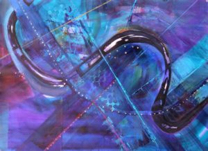 Serpentine, Mixed Media by Barbara Taylor Hall (May 2012)