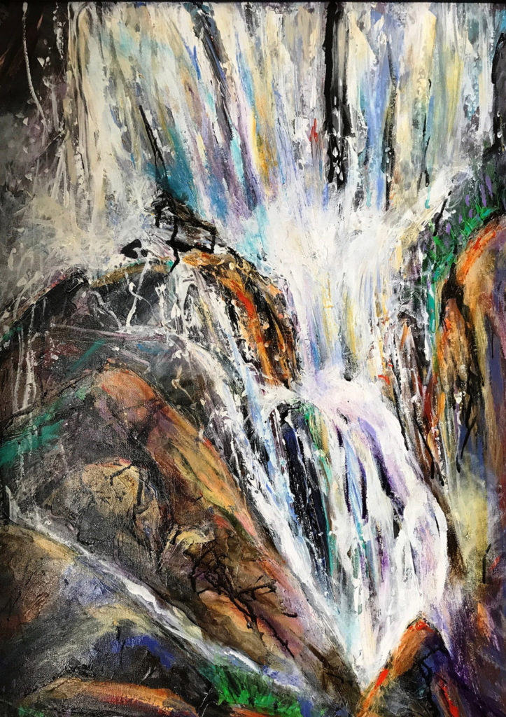 Boulder Falls by Karen Julihn (June-Sept 2017, CBTC)