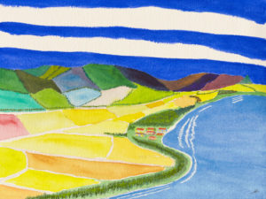 Colorful East Shore, Kaua'i, Watercolor by Bro Halff (March 2012)