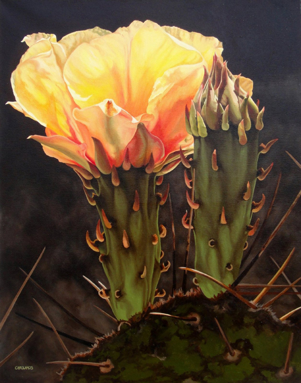 FIRST PLACE: Golden Glow, Oil and Alkyd by Carol Amos (November 2012)