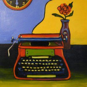 No Spell Check, Acrylic by Carol Baker (July 2012)