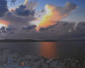 Sunset over St. Paul's Bay, Digital Photography by Carol Baker (November 2012)