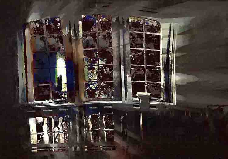 THIRD PLACE: Distorted View, Digital Painting by Carolyn R Beever (March 2012)