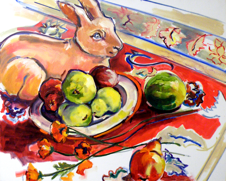 FIRST PLACE: Pear-Aphernalia, Oil by Charlotte Richards (October 2012)