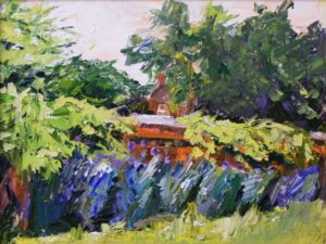 Garden Wall, Oil on Canvas by Christina Smith (September 2012)
