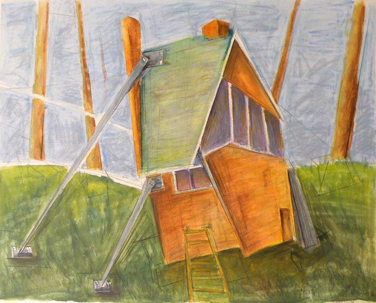 HONORABLE MENTION: Propped Up II, Acrylic and Colored Pencil by David Lovegrove (May 2012)