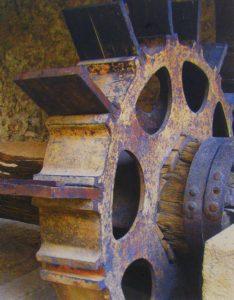 Wooden Gear Ville franche, Metallic Print Photo Ltd Ed by Deborah D. Herndon (July 2012)