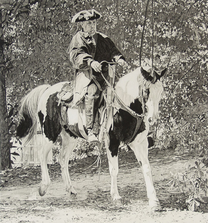 HONORABLE MENTION: West Florida Dragoon, Graphite by Ernie L. Fournet (November 2012)
