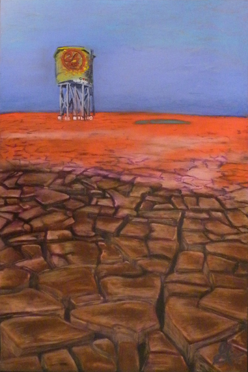 HONORABLE MENTION: Mirage, Sennelier Oil Pastel by Guerin Wolf (October 2012)