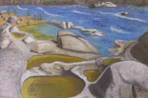 Rappahannock Tide Pools, Sennelier Oil Pastel by Guerin Wolf (October 2012)