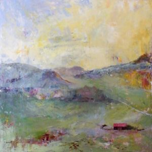 Open Meadow, Oil on Aluminum by Jane T Woodworth (March 2012)