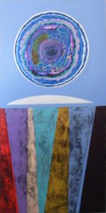 Blue Moon, Mixed Media by Jill Powell (March 2012)