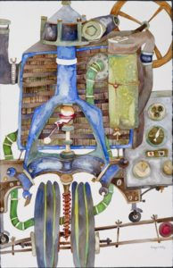 FIRST PLACE: Contraption No. 16, Watercolor by Kathryn B. Phillips (July 2012)