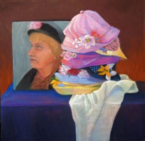 Ms. Ebbie's Hats, Pastel by Kathy Waltermire (September 2012)