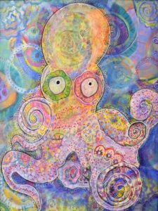 Octopus, Mixed Media by Leslie Brier (June 2012)