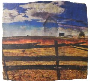 THIRD PLACE: Clouded Vision, Mixed Media by Linda Stanczak (June 2012)