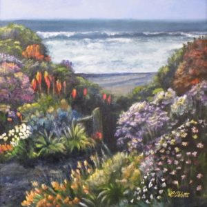 Bloom Where You're Planted, Acrylic by Lynn Abbott (June 2012)