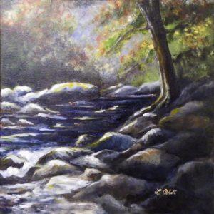 Deep Creek, Acrylic by Lynn Abbott (April 2012)