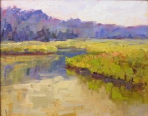Popes Creek in Summer, Oil by Lynn Mehta (October 2012)