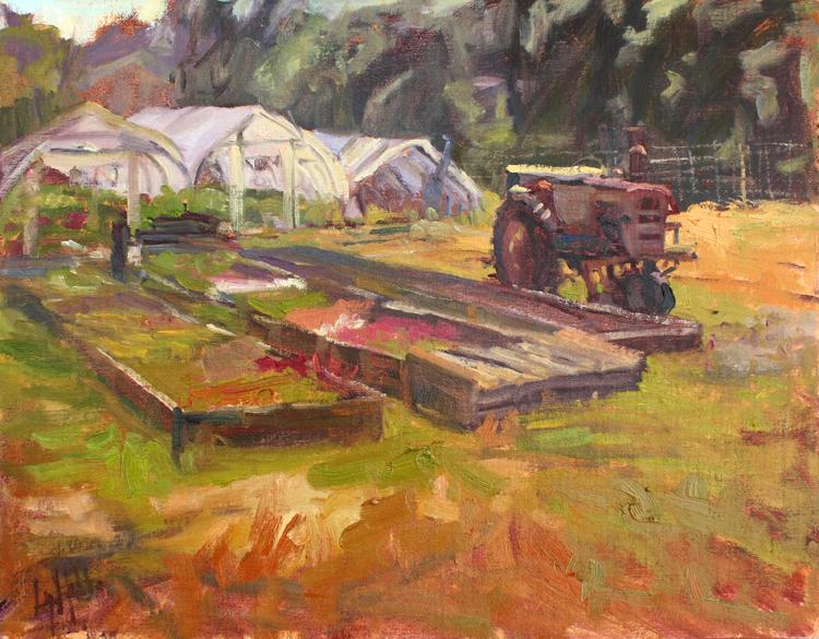 HONORABLE MENTION: Raised Beds, Oil by Lynn Mehta (September 2012)