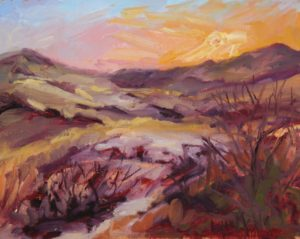 Sunrise in the Province lands, Oil on Linen by Lynn Mehta (March 2012)