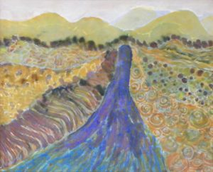 Layers of Landscape, Batik by Mary Lazar (September 2012)