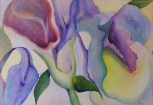 Earth's Bounty Unfolding, Watercolor by Meg Martin (October 2012)