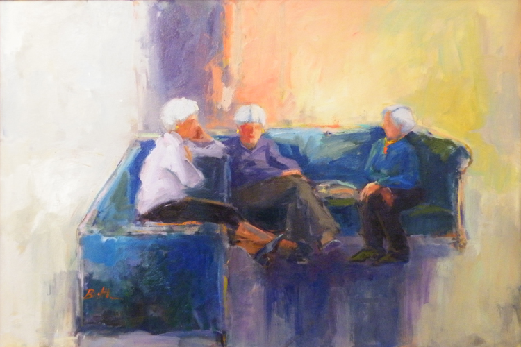 HONORABLE MENTION: Ladies Waiting, Oil by Nancy Bowen Brittle (September 2012)