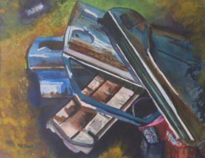 Junkyard Blues, Watercolor by Pat Knock (July 2012)