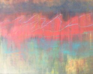 Rocky Mountain Sunset, Acrylic by Paula Raudenbush (September 2012)