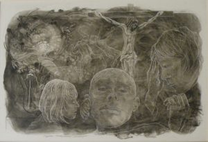 Visiting Hour, Ink by Phyllis Graudszus (October 2012)