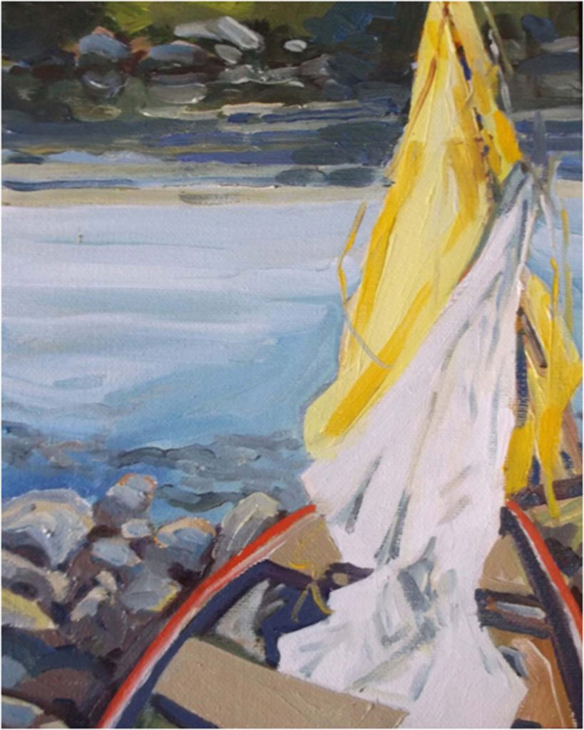 Sail No.3, Oil by Marcia Chaves (June-Sept 2017, CBTC)