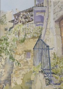 Abandoned, Watercolor by Sally Rhone-Kubarek (October 2012)