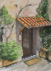 Bistro Italiano, Watercolor by Sandy Staley (November 2012)