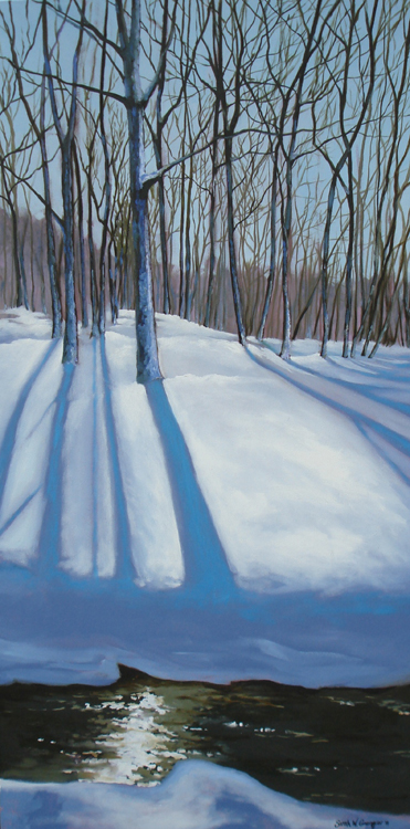 SECOND PLACE: Snow Day, Oil by Sarah W. Grangier (November 2012)