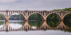 Train Bridge, Photoon Canvas by Stephen Collins (October 2012)
