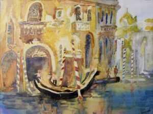 O Solo Mio, Watercolor on Canvas by Sue Henderson (April 2012)