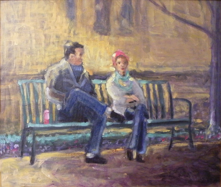 HONORABLE MENTION: Its All About Her, Acrylic on Panel by Tom Smagala (April 2012)