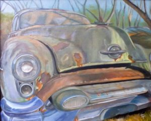 HONORABLE MENTION: 53 Olds, Oil by Toy Fowler (June 2012)