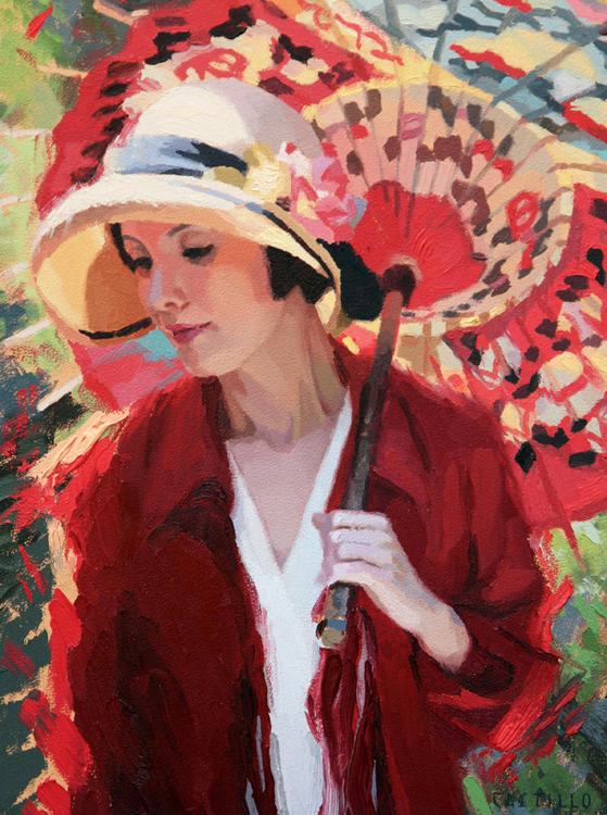 HONORABLE MENTION: Sunlit Parasol, Oil and Alkyd by Victoria Castillo (November 2012)